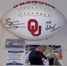 Brian Bosworth - Autographed Oklahoma Sooners Full Size Logo Football - PSA/DNA