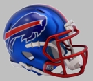 Buffalo Bills - Blaze Alternate Speed Riddell Mini Football Helmet