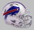 Buffalo Bills - Chrome Alternate Speed Riddell Full Size Deluxe Replica Football Helmet