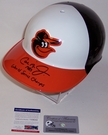 Cal Ripken Jr. - Rawlings - Autographed Full Size Authentic Batting Helmet - Baltimore Orioles Throwback - PSA/DNA
