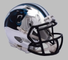 Carolina Panthers - Chrome Alternate Speed Riddell Full Size Deluxe Replica Football Helmet