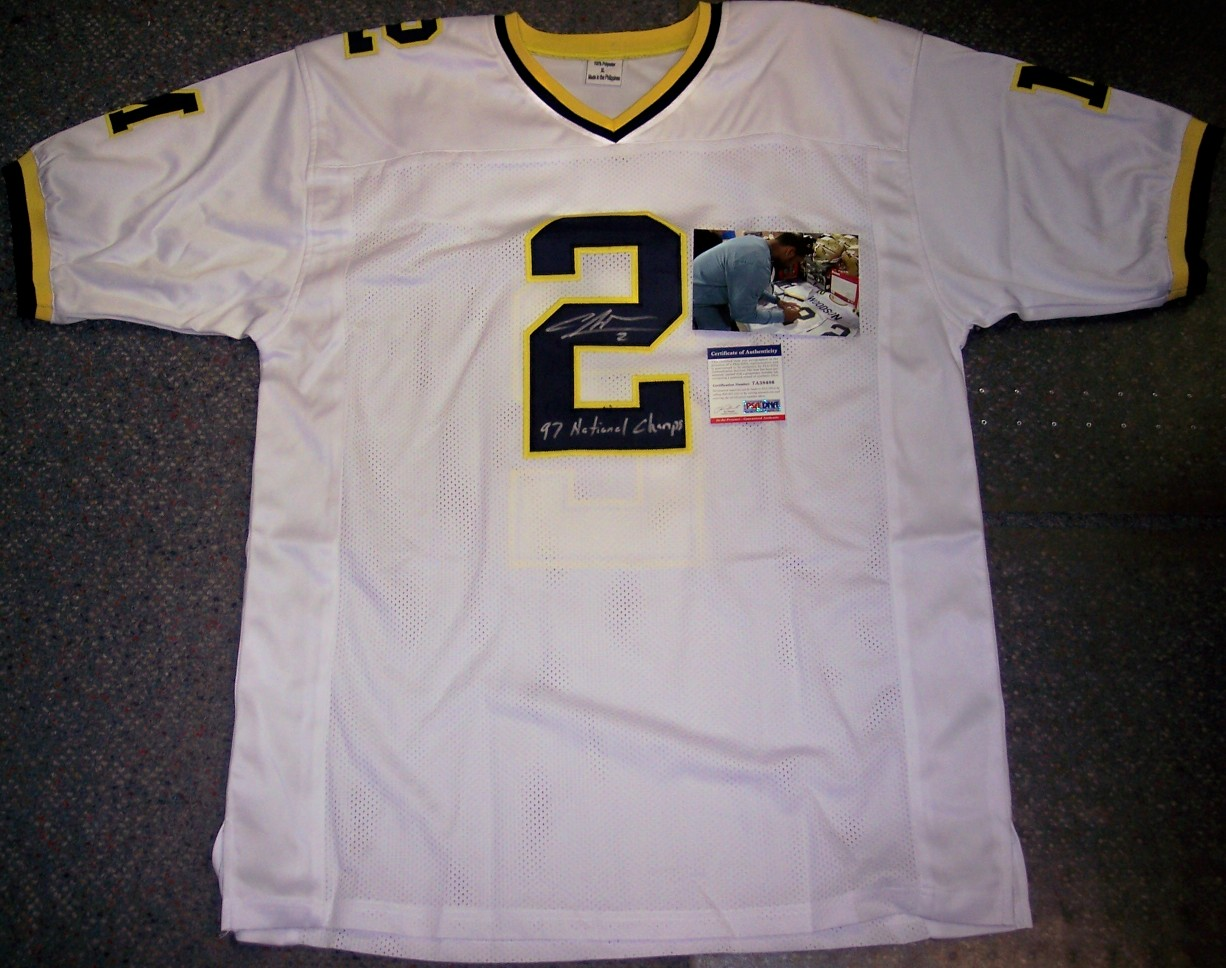 buy popular 17814 e33c7 Charles Woodson - Autographed Michigan Wolverines Official ...