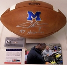 Charles Woodson - Autographed Wilson Official Leather Michigan Wolverines NCAA Football - F1008 - PSA/DNA
