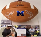 Charles Woodson / Desmond Howard - Autographed Wilson Official Leather Michigan Wolverines NCAA Football - F1008 - PSA/DNA