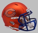 Chicago Bears - Blaze Alternate Speed Riddell Mini Football Helmet