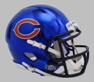 Chicago Bears - Chrome Alternate Speed Riddell Mini Football Helmet