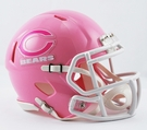 Chicago Bears Pink Speed Riddell Mini Football Helmet