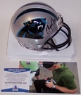Christian McCaffrey - Riddell - Autographed Mini Helmet - Carolina Panthers - Beckett BAS