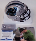 Christian McCaffrey - Riddell - Autographed Speed Mini Helmet - Carolina Panthers - Beckett BAS