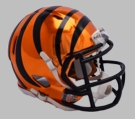 Cincinnati Bengals - Chrome Alternate Speed Riddell Full Size Deluxe Replica Football Helmet