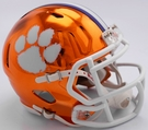 Clemson Tigers - Chrome Alternate Speed Riddell Mini Football Helmet