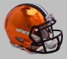 Cleveland Browns - Chrome Alternate Speed Riddell Mini Football Helmet