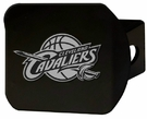 "Cleveland Cavaliers NBA 2"" Black Chrome Metal Tow Hitch Receiver Cover 3D"