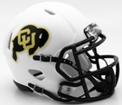 Colorado Buffaloes White Matte Speed Riddell Mini Football Helmet