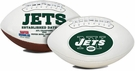 Curtis Martin - Autographed New York Jets Full Size Logo Football