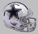 Dallas Cowboys - Chrome Alternate Speed Riddell Full Size Deluxe Replica Football Helmet