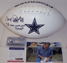 Daryl Johnston - Autographed Dallas Cowboys Full Size Logo Football - PSA/DNA
