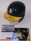 Dennis Eckersley - Riddell - Autographed Batting Mini Helmet - Oakland A's - PSA/DNA
