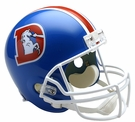 Denver Broncos 1975-1996 Throwback Riddell NFL Full Size Deluxe Replica Football Helmet