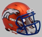 Denver Broncos - Blaze Alternate Speed Riddell Mini Football Helmet