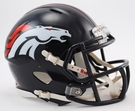 Denver Broncos Speed Revolution Riddell Mini Football Helmet