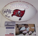 Derrick Brooks - Autographed Tampa Bay Bucs Full Size Logo Football - PSA/DNA