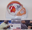 Derrick Brooks / Warren Sapp - Riddell - Autographed Mini Helmet - Tampa Bay Bucs Throwback - PSA/DNA