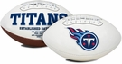 Derrick Henry - Autographed Tennessee Titans Full Size Logo Football