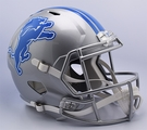 Detriot Lions Riddell NFL Full Size Deluxe Replica Speed Football Helmet