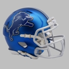 Detroit Lions - Blaze Alternate Speed Riddell Mini Football Helmet