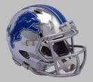 Detroit Lions - Chrome Alternate Speed Riddell Full Size Deluxe Replica Football Helmet