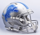 Detroit Lions Riddell Authentic Speed NFL Full Size On Field Football Helmet