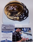 Drew Brees - Autographed Riddell Chrome Speed Mini Helmet - Purdue Boilermakers - BAS Beckett
