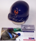 Dwight Gooden - Riddell - Autographed Batting Mini Helmet - New York Mets - PSA/DNA
