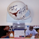 Earl Campbell / Ricky Williams - Riddell - Autographed Mini Helmet - Texas - PSA/DNA