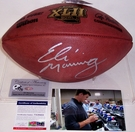 Eli Manning - Autographed Official Wilson Leather Super Bowl XLII NFL Football - PSA/DNA