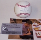 Evan Longoria - Autographed Official Rawlings MLB League Baseball w/08 ROY