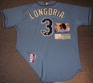Evan Longoria - Autographed Tampa Bay Rays , Blue Majestic Official Authentic Jersey - PSA/DNA