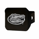 "Florida Gators NCAA 2"" Black Chrome Metal Tow Hitch Receiver Cover 3D"