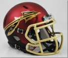 Florida State Seminoles Garnet Speed Riddell Mini Football Helmet