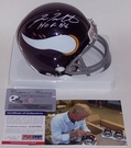 Fran Tarkenton - Riddell - Autographed Mini Helmet - Minnesota Vikings Throwback - PSA/DNA