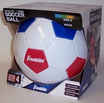 Franklin Red, White and Blue Soccer Ball - Size 4