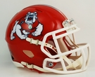 Fresno State Bulldogs Speed Revolution Riddell Mini Football Helmet