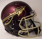 FSU Florida State Seminomes Garnet Riddell Authentic Revolution Speed NFL Full Size On Field Football Helmet