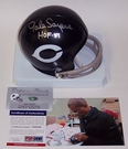 Gale Sayers - Riddell - Autographed 2-Bar Throwback , w/HOF Mini Helmet - Chicago Bears - PSA/DNA