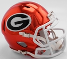 Georgia Bulldogs - Chrome Alternate Speed Riddell Mini Football Helmet