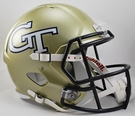 Georgia Tech Riddell NCAA Full Size Deluxe Replica Speed Football Helmet