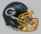 Green Bay Packers - Blaze Alternate Speed Riddell Mini Football Helmet