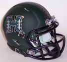 Hawaii Warriors Matte Green Speed Riddell Mini Football Helmet