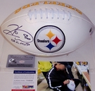 Hines Ward - Autographed Pittsburgh Steelers Full Size Logo Football - PSA/DNA